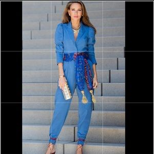 Zara Blue king jumpsuit NWT large